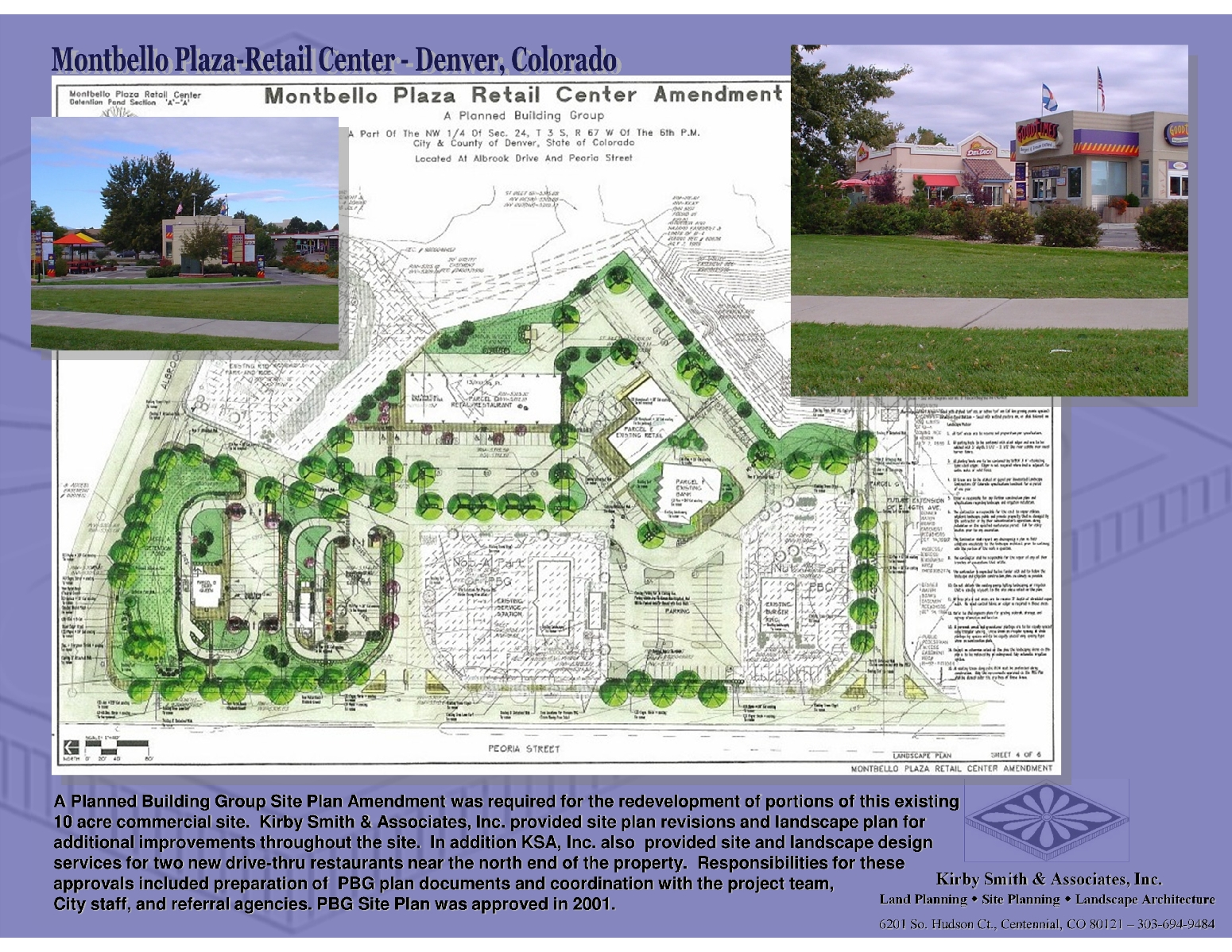 Commercial mixed use site planning kirby smith for Landscaping plan template