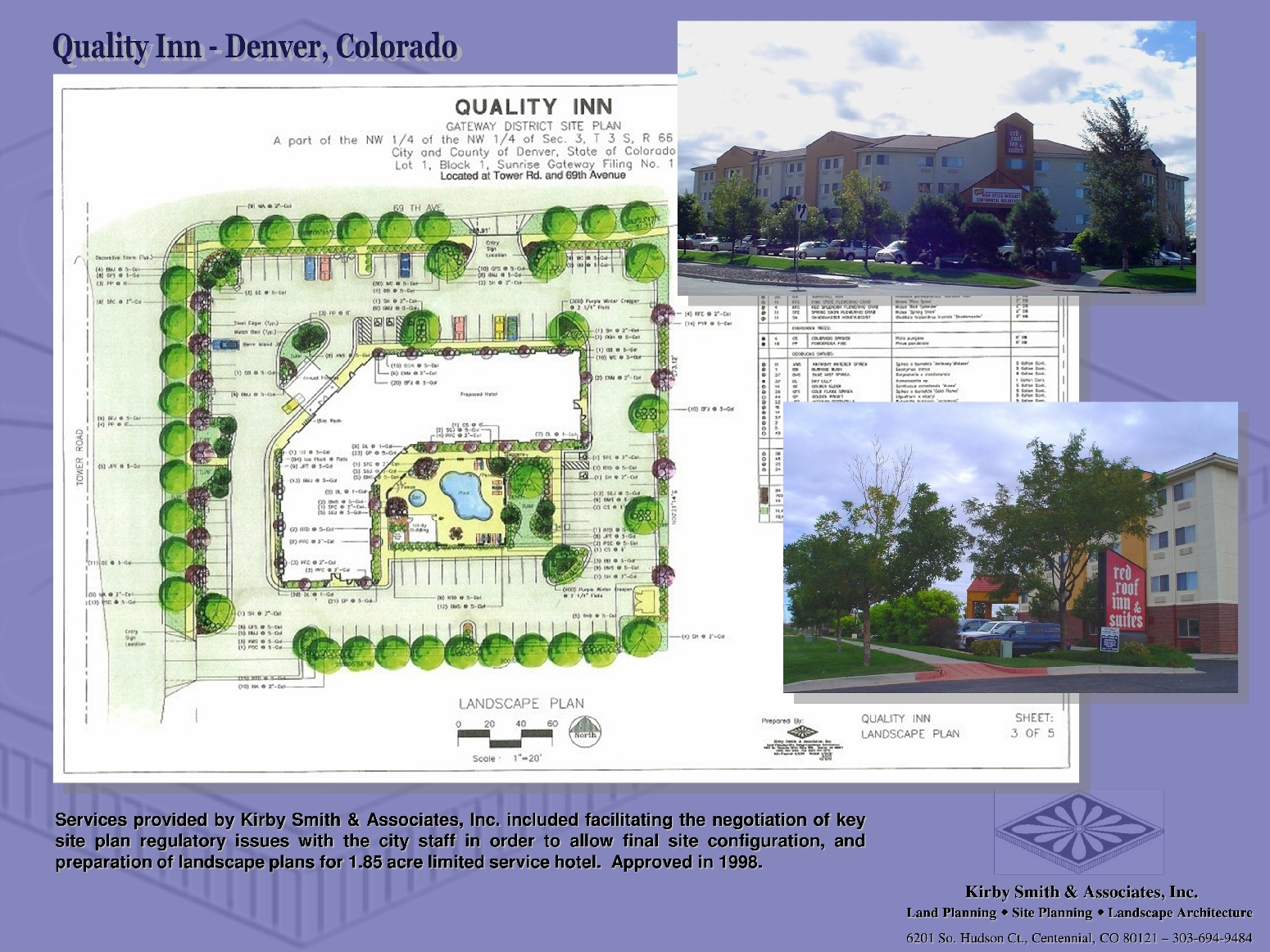 Commercial mixed use site planning kirby smith for Landscape design sheets